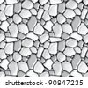 Rubble masonry, seamless vector - stock vector