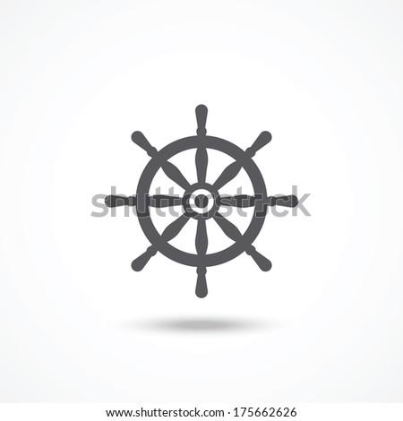 Rudder icon - stock vector