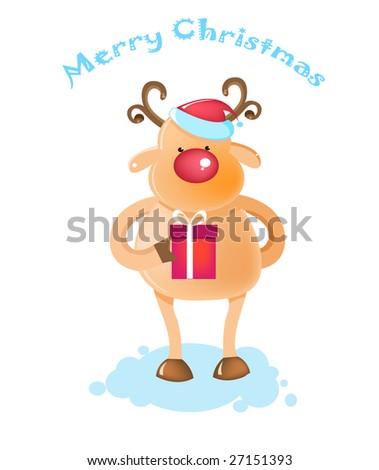 Rudolph - The Christmas reindeer - stock vector