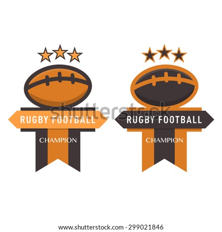 Rugby Football Badge,vector illustration