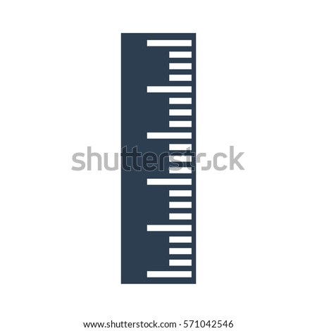Ruler Icon on white background. Vector illustration