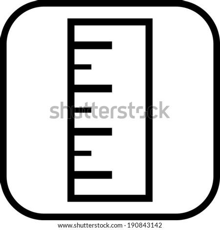Ruler vector icon - stock vector