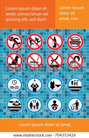 Rule stock images royalty free images vectors shutterstock for Swimming pool health and safety rules