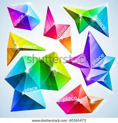 rumpled bubbles for speech. vector illustration - stock vector