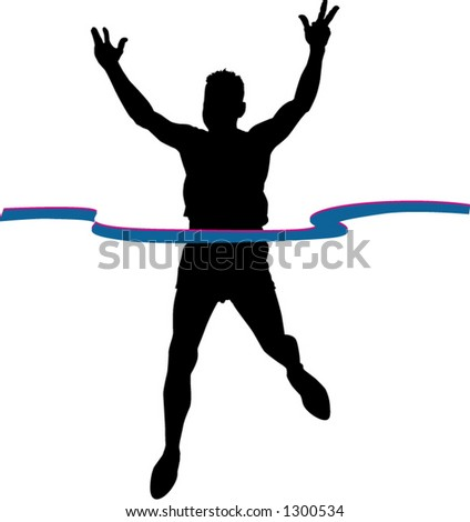 runner - stock vector