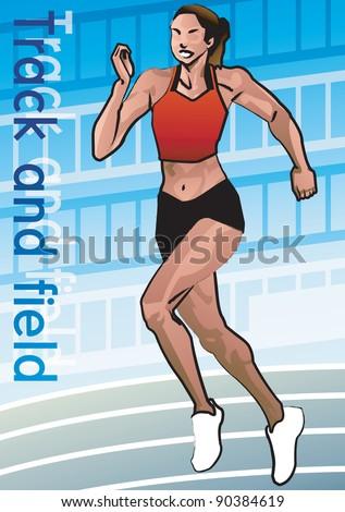Runner - stock vector