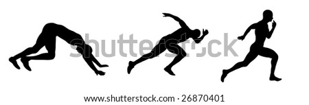 runner silhouette - stock vector