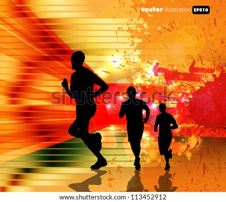 Runner sport illustration.