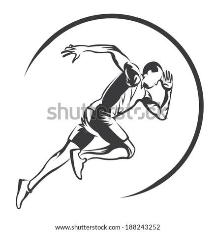 runner symbol - stock vector