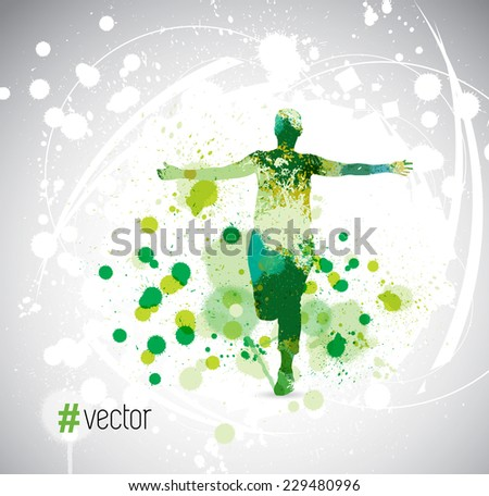 Runner. Vector illustration  - stock vector