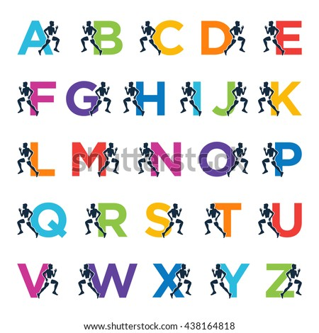 Running Alphabet Letters Vector Design Template Stock Vector HD ...