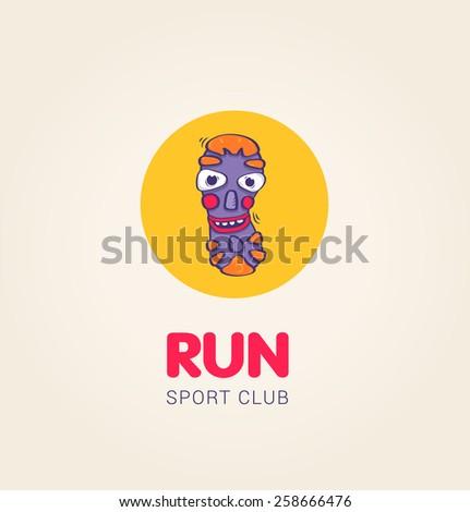 Running club corporate identity. - stock vector