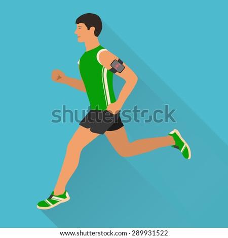 Running man - stock vector