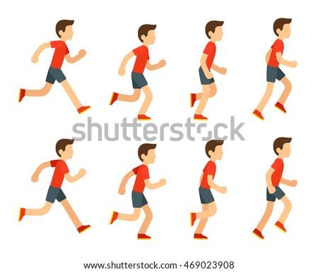 Running Man Animation Sprite Set 8 Stock Photo (Photo, Vector ...
