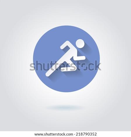 Running man icon  - stock vector