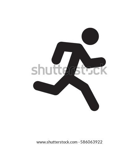 Running Man Icon Illustration Isolated Vector Stock Vector 586063922