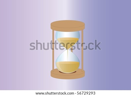 running out of time ( background on separate layer ) - stock vector