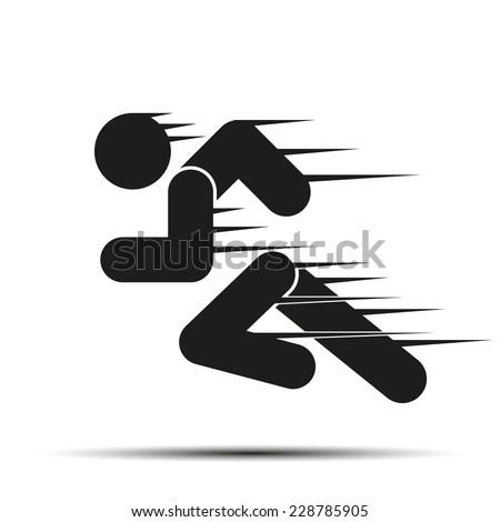 Running People Motion Simple Symbol Run Stock Photo Photo Vector