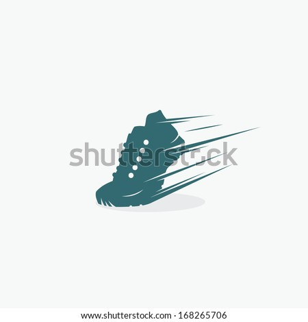 Running shoe symbol - vector illustration - stock vector
