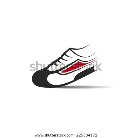 Running shoes icon. Vector illustration for your design. Modern popular lifestyle. - stock vector