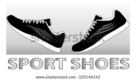 Running shoes. Sport shoes. Sneakers. Vector illustration - stock vector
