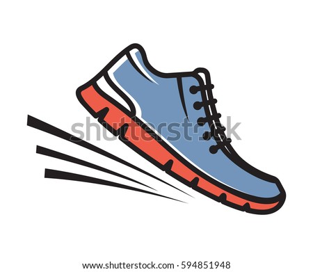 running shoes vector icon stock vector royalty free 594851948 rh shutterstock com running shoe wings vector running shoes free vector