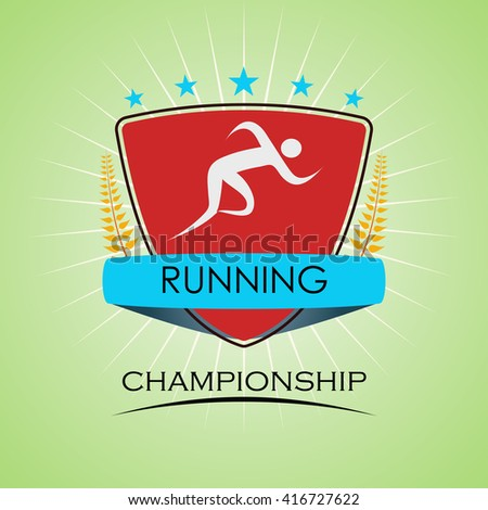 Running / Sprint / Marathon - Colorful Sports Badge