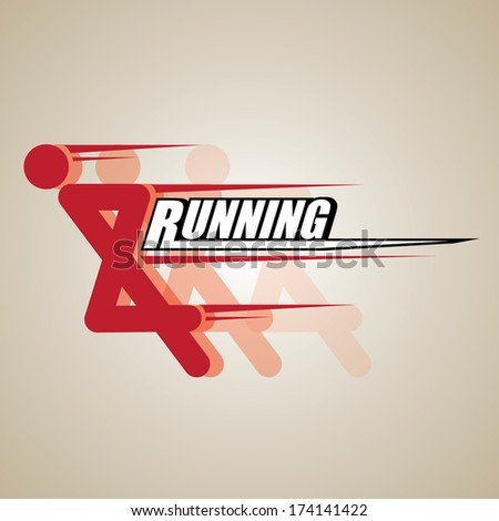 RUNNING VECTOR - stock vector