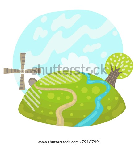 Rural landscape - stock vector