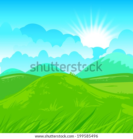 Rural vector illustration. Abstract farm background.