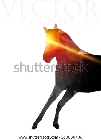 rushing horse - vector illustration - stock vector