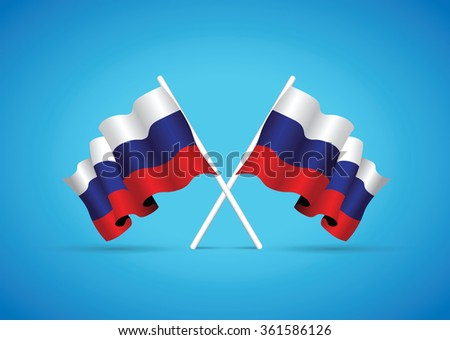 russia flag - stock vector