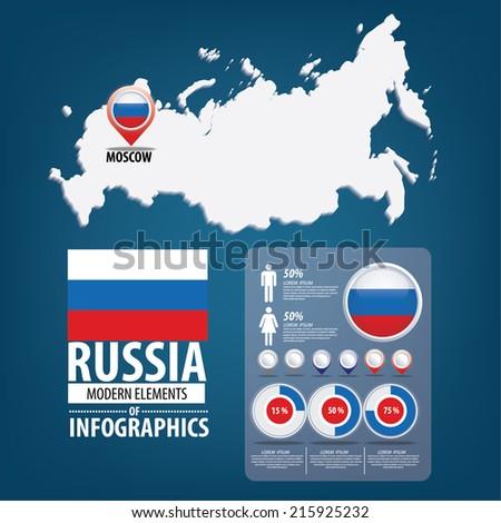 Russia. flag. Asia. World Map. vector Illustration. - stock vector