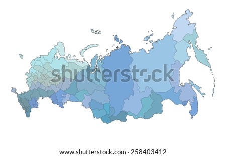 Russia map - stock vector