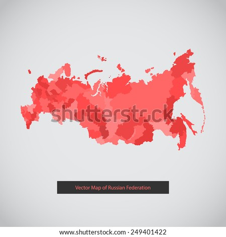 Russia map. Vector background illustration of Russian federation for ui, web games, tablets, wallpapers, and patterns. - stock vector