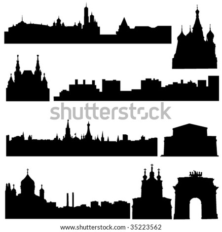 Russia's famous historical buildings and modern architecture.