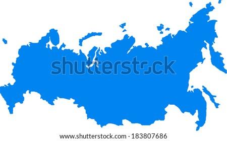 Russia Vector Map - stock vector