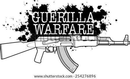 Russian assault rifle - stock vector