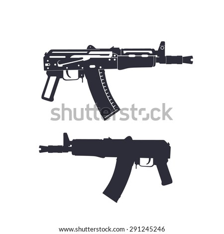 russian automatic rifle, carbine, vector illustration, eps10, easy to edit
