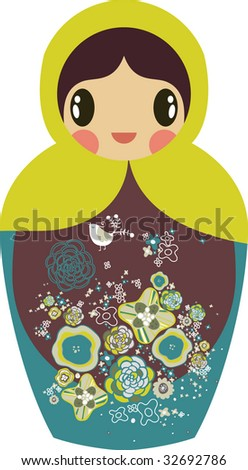 Russian doll design - stock vector