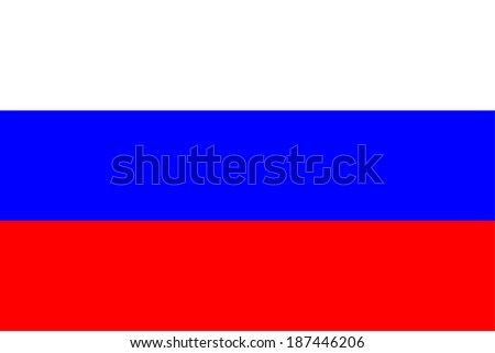 Russian flag, vector - stock vector
