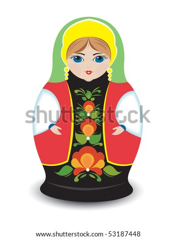 Russian nesting doll - stock vector