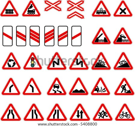 russian road signs