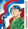 Russian soldier. - stock vector