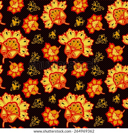 Russian traditional  pattern. Seamless vector background - stock vector