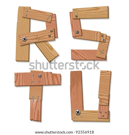 Wood Grain Plastic  In Wood Grain Letters