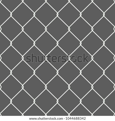 Rusty Chain Link Wire Mesh Fence Stock Vector 1044688342 ...