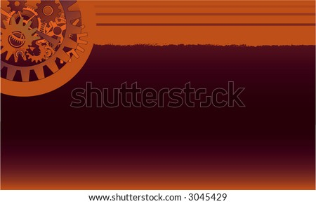 rusty mechanical background - stock vector