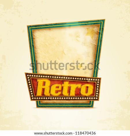 Rusty sign retro - stock vector