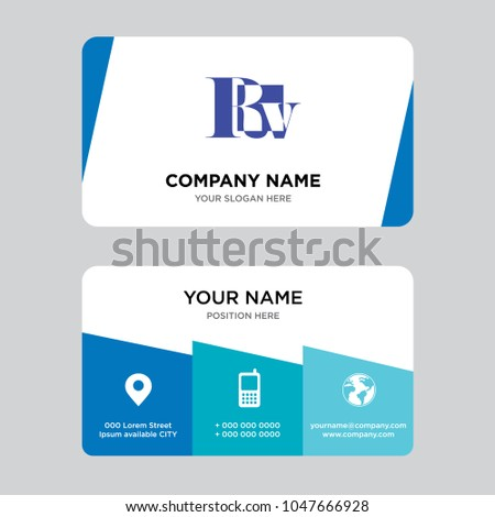 Rv business card design template visiting stock vector hd royalty rv business card design template visiting for your company modern creative and clean identity colourmoves